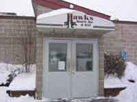 Hawk's Sports Bar & Grill from front