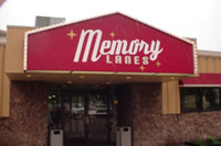 Memory Lanes <br>Flashback Cafe and Cocktail lounge from front