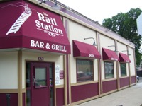 Rail Station Bar and Grill from front