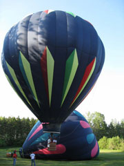 Aamodt's Hot  Air Balloon Rides Inc. from front