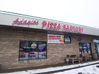 Adagio's Pizza Factory from front